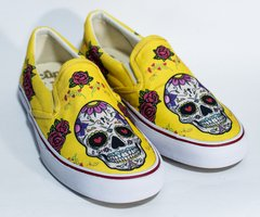 Printed Sneakers Mexican Skull