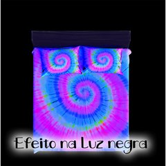 Kit Cama + Cortina Tie Dye 001 Fluorescente na internet