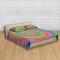 Imagem do Kit Cama + Cortina Tie Dye 001 Fluorescente