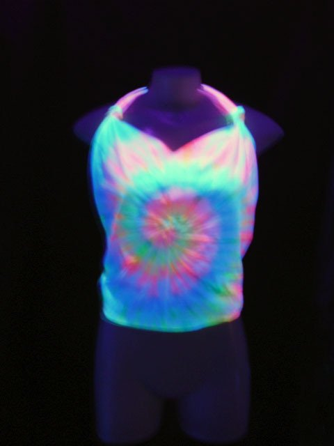 Frente Unica (Top Cropped) Tie Dye 001 Fluorescente