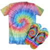 Kit Camiseta e Chinelo Tie Dye 001