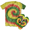 Kit Camiseta e Chinelo Tie Dye 003