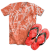 Kit Camiseta e Chinelo Tie Dye 021