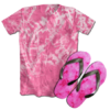 Kit Camiseta e Chinelo Tie Dye 022