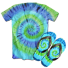 Kit Camiseta e Chinelo Tie Dye 029