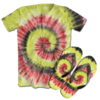 Kit Camiseta e Chinelo Tie Dye 032