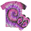 Kit Camiseta e Chinelo Tie Dye 033