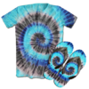 Kit Camiseta e Chinelo Tie Dye 034