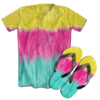 Kit Camiseta e Chinelo Tie Dye 051