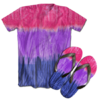 Kit Camiseta e Chinelo Tie Dye 057