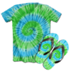 Kit Camiseta e Chinelo Tie Dye 059
