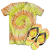 Kit Camiseta e Chinelo Tie Dye 078