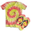 Kit Camiseta e Chinelo Tie Dye 079