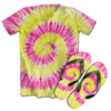 Kit Camiseta e Chinelo Tie Dye 080