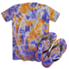 Kit Camiseta e Chinelo Tie Dye 087