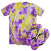 Kit Camiseta e Chinelo Tie Dye 090