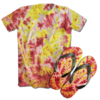 Kit Camiseta e Chinelo Tie Dye 091