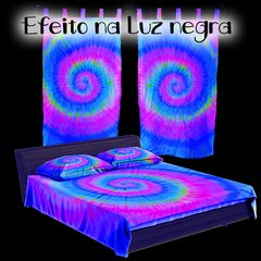 Kit Cama + Cortina Tie Dye 001 Fluorescente