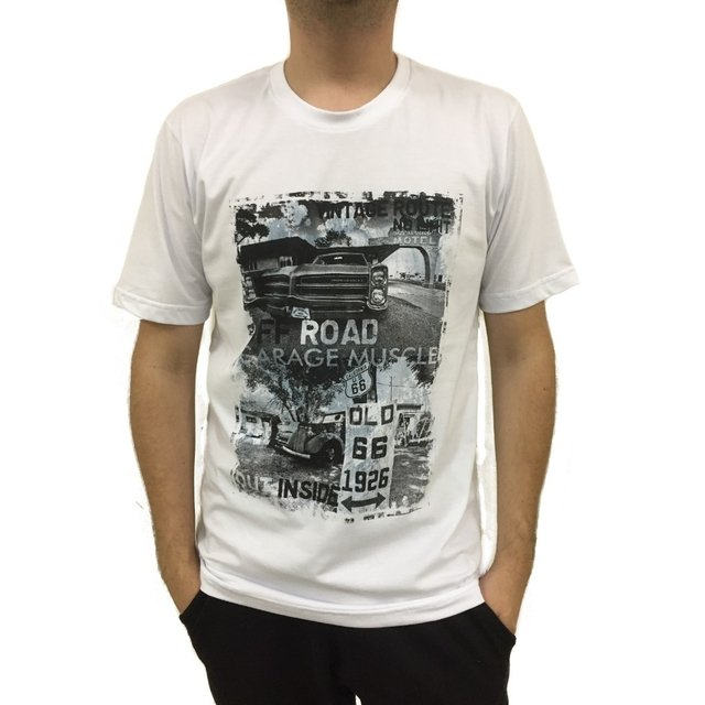 Camiseta estampada vintage route no limit - comprar online