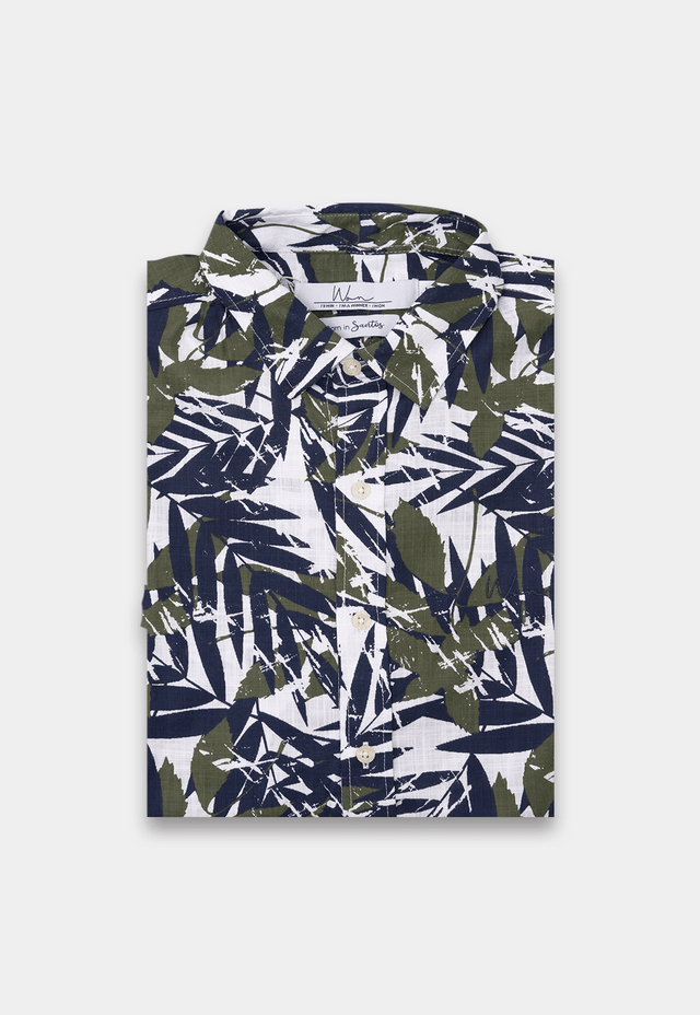 CAMISA MC FOLIAGE ESTAMPADO - Won Store Oficial