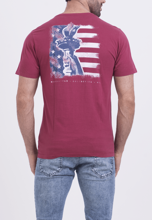 CAMISETA LIBERTY STATUE BORDÔ na internet