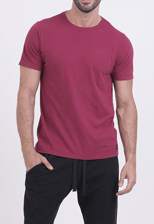 CAMISETA MANHATTAN CASUAL BORDÔ - comprar online