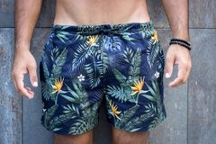 Short Overflow Dark Floral na internet