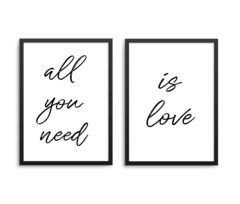 Kit de 2 quadros , All you need is love