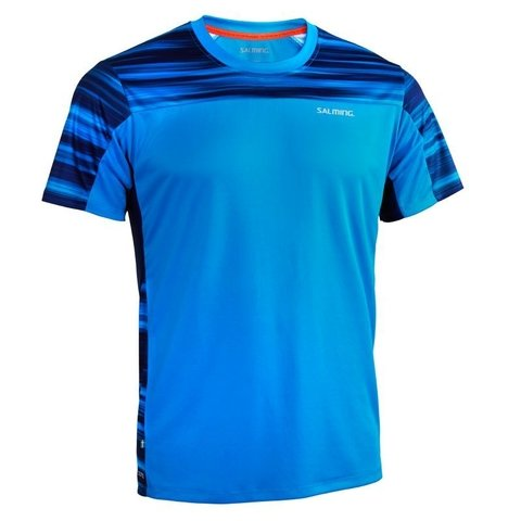SALMING MOTION TEE MEN BLACK PURPLE BLUE