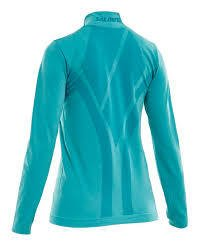 SALMING SEAMLESS HALFZIP CERAMIC GREEN WOMEN - comprar online