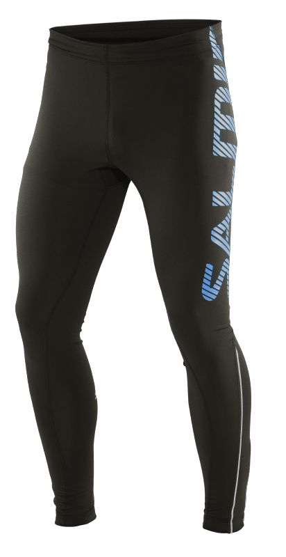 LOGO TIGHTS BLACK CYAN