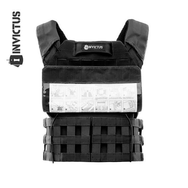 PLATE CARRIER INVICTUS APOLO COYOTE - PRETO - loja online
