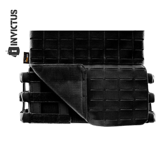 PLATE CARRIER INVICTUS APOLO COYOTE - PRETO - Supremacia