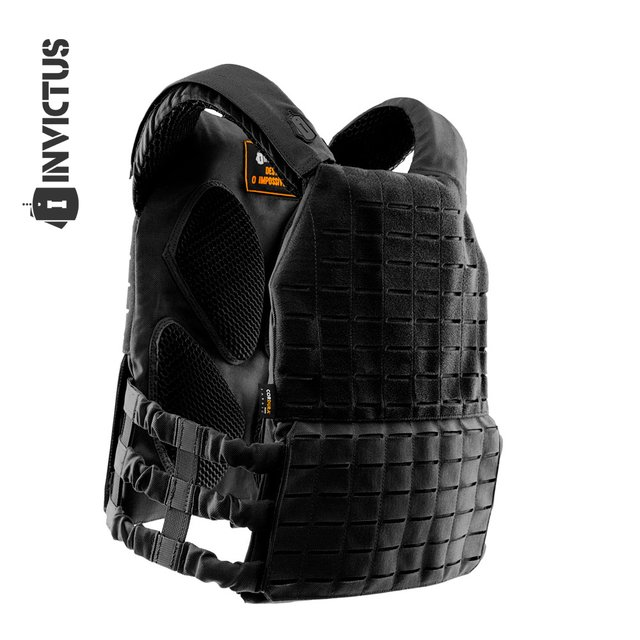 PLATE CARRIER INVICTUS APOLO COYOTE - PRETO