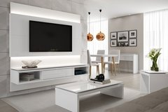 HOME PARA TV LINCOLN BRANCO GLOSS 220 CM - comprar online