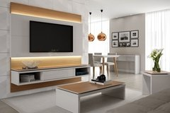 HOME PARA TV LINCOLN OFF-WHITE/NATURAL 195 CM - comprar online