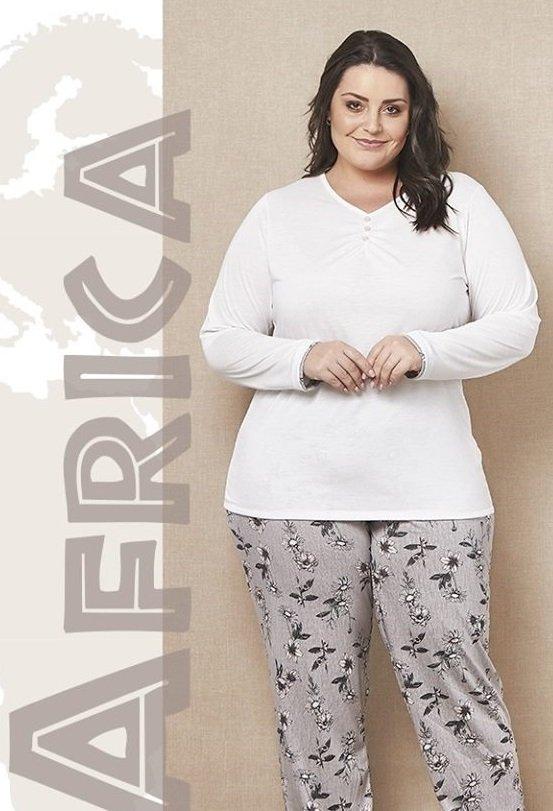 4bc36aa04 Pijama Plus Size Longo em Malha de Algodão