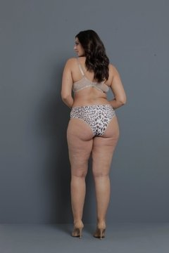 Tanga Lateral Ampla Animal Print  e Renda. Ref. SZ2789 - Intimaxx Lingerie Plus Size