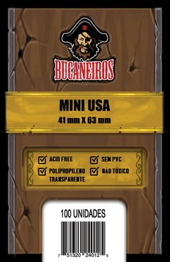 Sleeve - Protetor de Cartas - Mini USA - Bucaneiros 41mm x 63mm