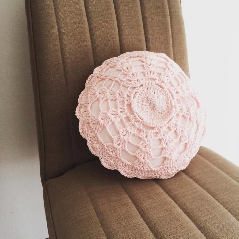 Almohadón Circular Pink