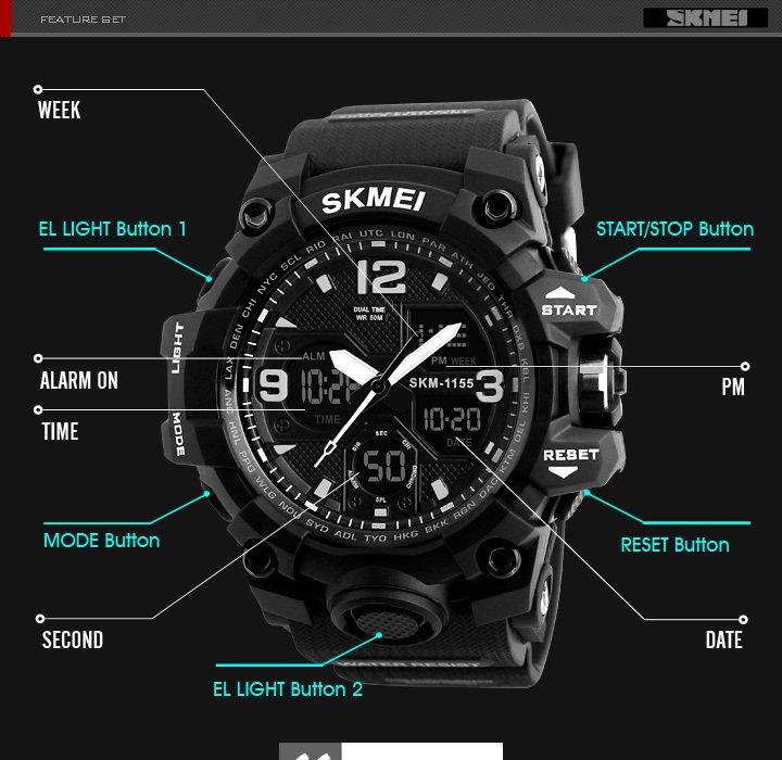 64b306754fe skmei preto - Comprar em Moda de Relogios SKMEI