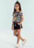 Conjunto Infantil Curto/Shorts Menina Abacaxi MORE SUMMER - Petit Cherie na internet