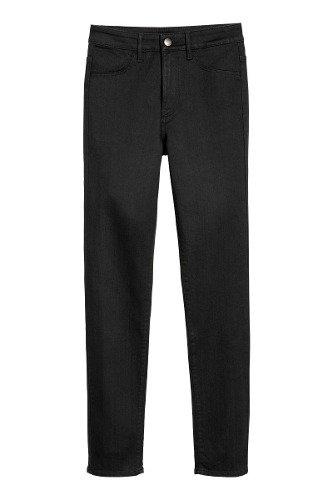 14041193b3 Pantalón De Jean Elastizado Mujer H m Chupin T Regular Negro