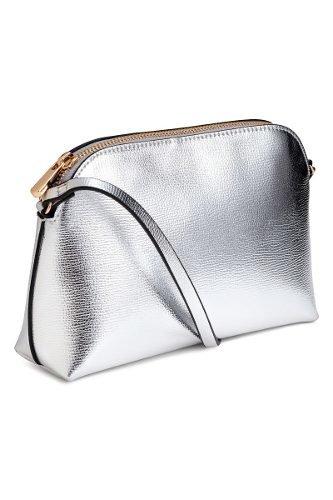 89cdf27f5 Cartera Plateada Silver H&m - Premium Store - Black Closet