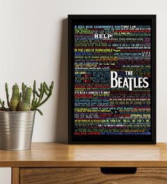 Quadro Decorativo - Letras (Beatles) na internet