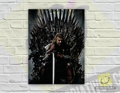 Placa Decorativa - Ned Stark | Game of Thrones