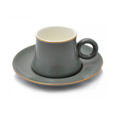 Set De Cafe Plato Mas Taza Masada Colores Deco