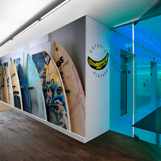 Mural Pared - Vinilo Mate o Empapelado - Tablas Surf Shop - comprar online