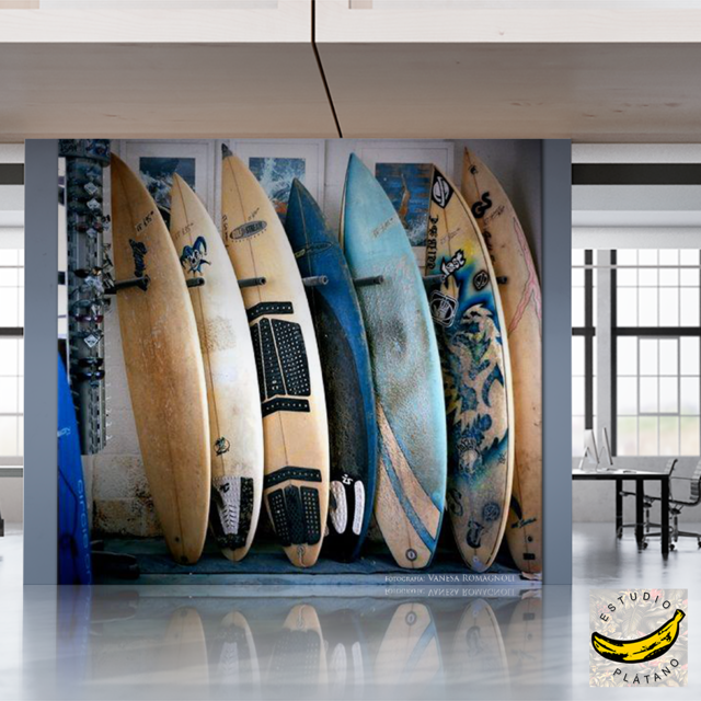 Mural Pared - Vinilo Mate o Empapelado - Tablas Surf Shop en internet