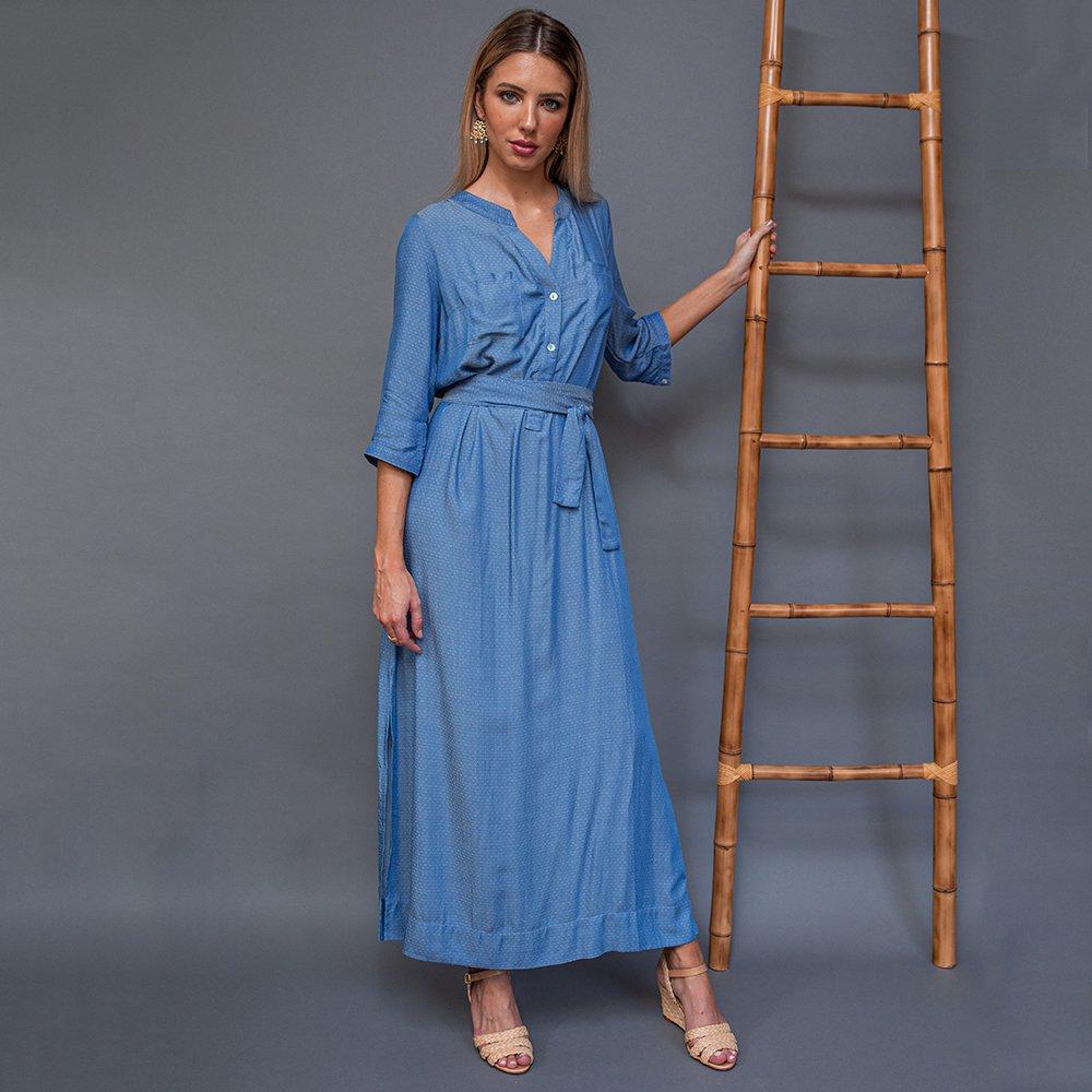 ea9bfc49d644 Vestido Chemise Pilos Azul - Comprar em Atelie MYK
